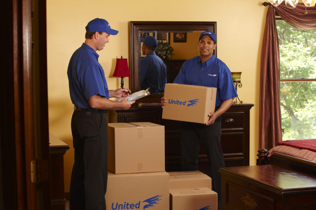 international moving company packing home